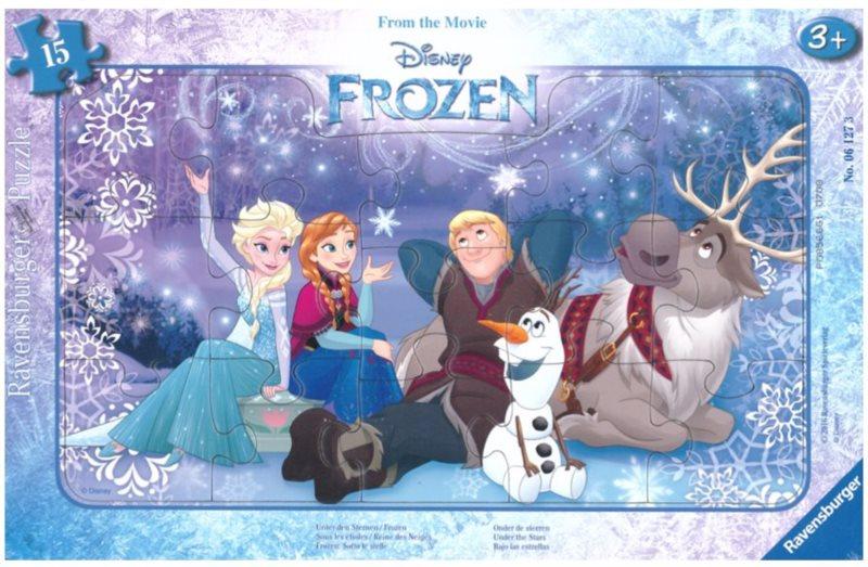 RAVENSBURGER Puzzle Ledové království: Pod hvězdami 15 dílků
