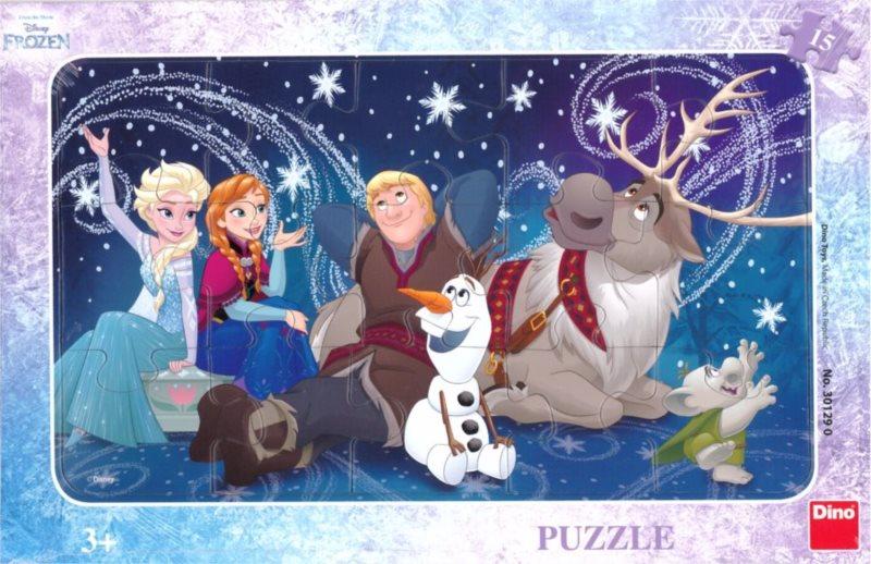 DINO Puzzle Ledové království: Sněhové vločky 15 dílků