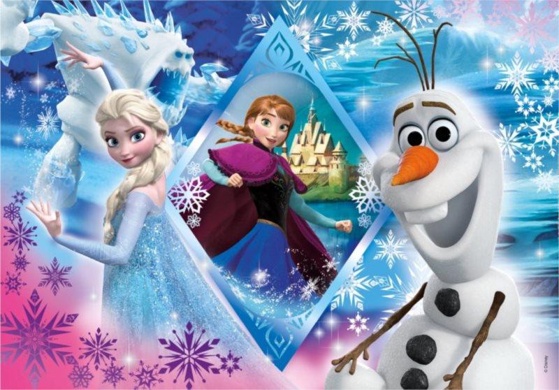 CLEMENTONI Puzzle Ledové království: Vločky 60 dílků