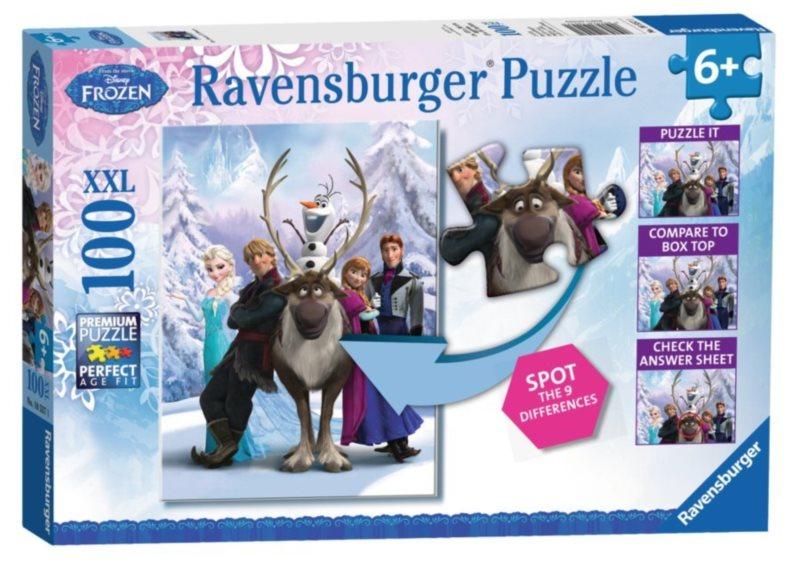 RAVENSBURGER Puzzle Ledové království XXL 100 dílků + hledání rozdílů