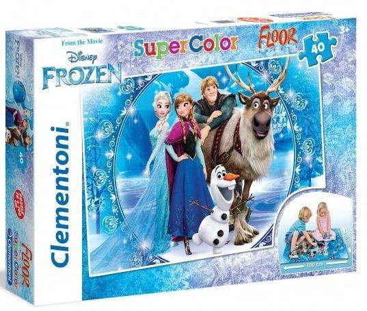 CLEMENTONI Puzzle Ledové království: Zima FLOOR 40 dílků