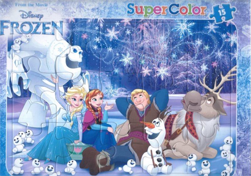 CLEMENTONI Puzzle Ledové království: Zimní pohoda 15 dílků