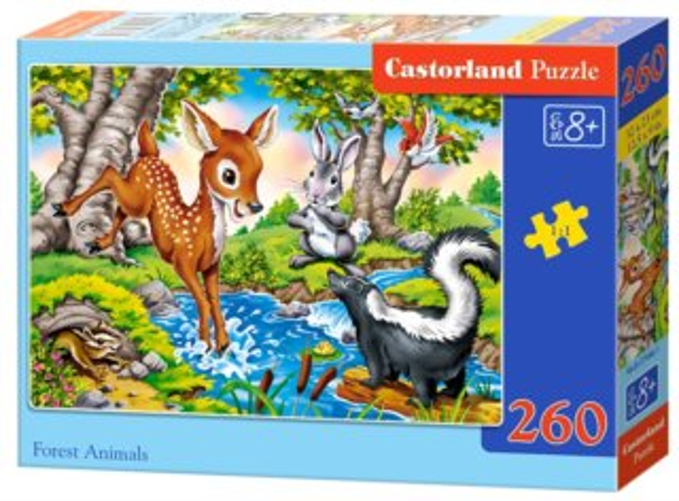CASTORLAND Puzzle Lesní zvířátka 260 dílků