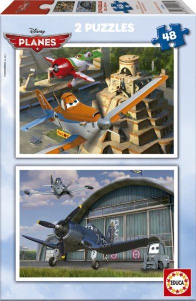 EDUCA Puzzle Letadla 2x48 dílků