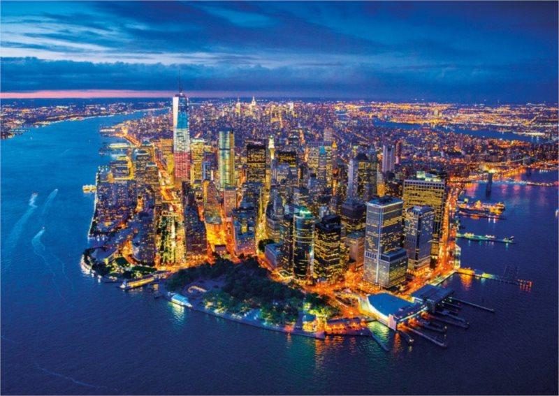 EDUCA Puzzle Letecký pohled na New York 2000 dílků
