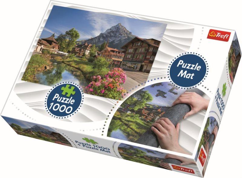 TREFL Puzzle Letní Alpy 1000 dílků + Podložka pod puzzle