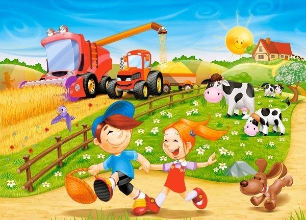 Dětské puzzle 60 dílků - CASTORLAND - Léto na venkově