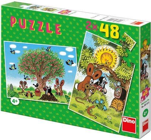Puzzle DINO - Léto s krtečkem 2x48 dílků