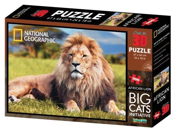 PRIME 3D Puzzle Lev 3D 500 dílků