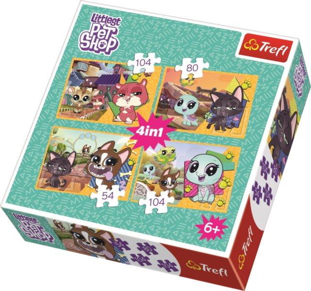 TREFL Puzzle Littlest Pet Shop 4v1 (54,80,104,104 dílků)