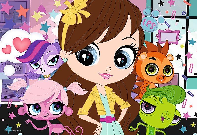 Puzzle pro děti TREFL 100 dílků - Littlest pet shop: S přáteli