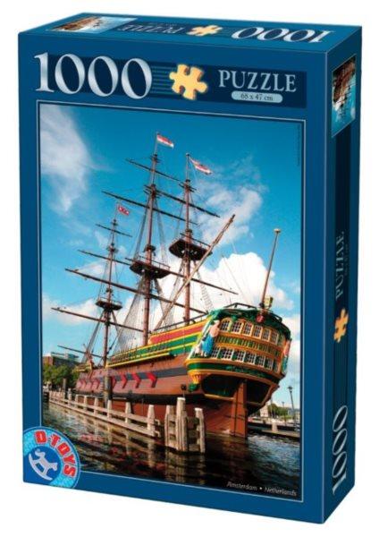 D-TOYS Puzzle Loď Amsterdam, Amsterdam 1000 dílků