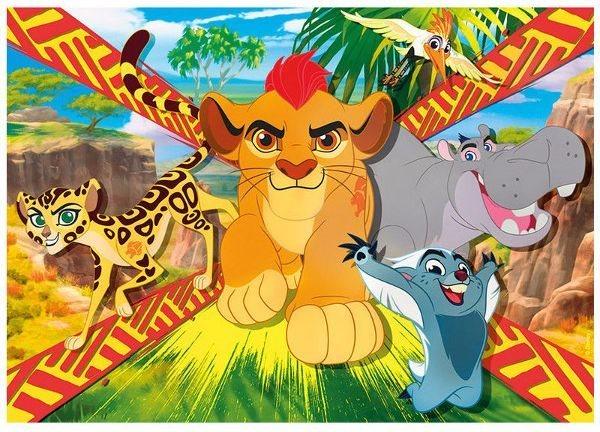 CLEMENTONI Puzzle Lví hlídka: Chráníme MAXI 104 dílků