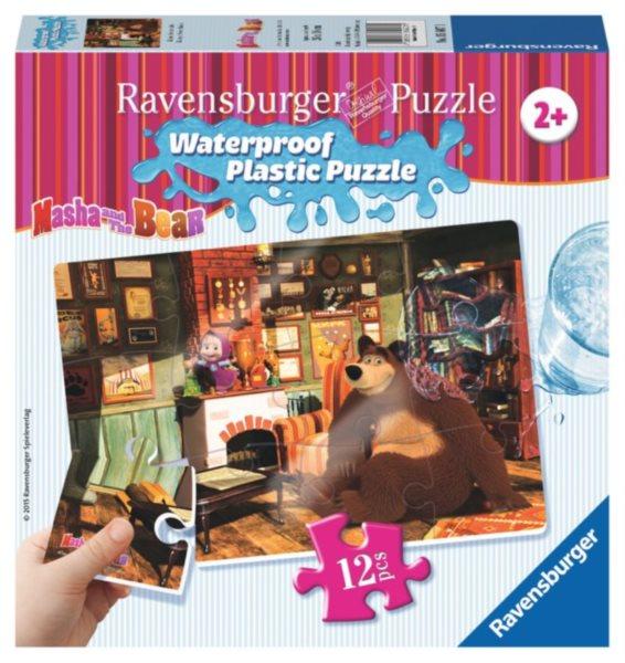 RAVENSBURGER Voděodolné puzzle Máša a medvěd: V salónu 12 dílků