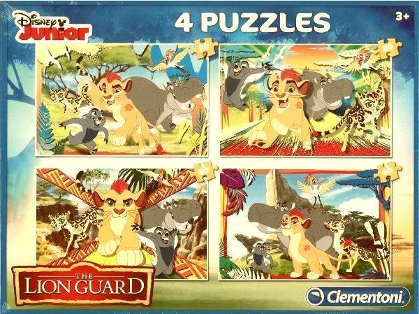 CLEMENTONI Puzzle Lví hlídka: Strážci v akci 4v1 (20,20,60,60 dílků)