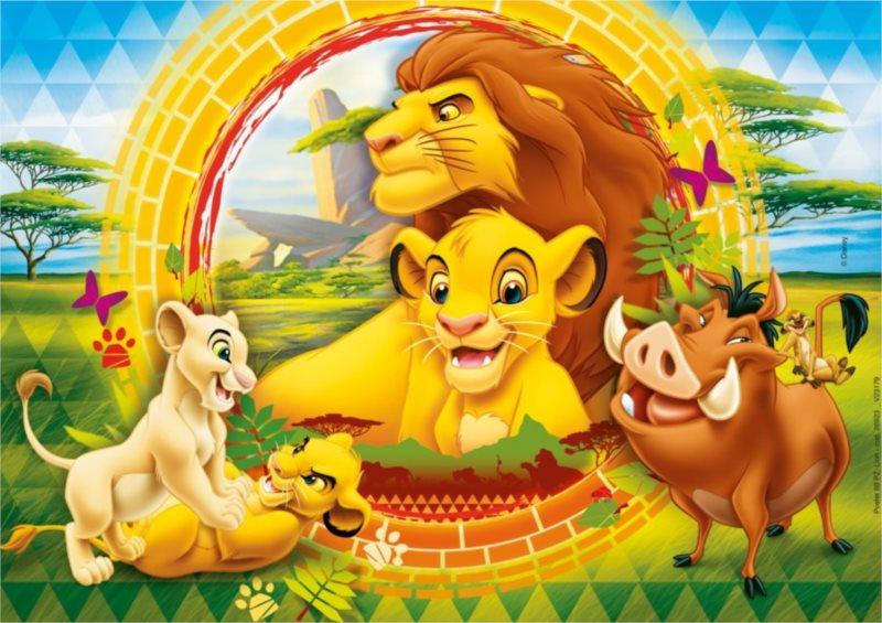 CLEMENTONI Dětské puzzle 60 dílků - Lví král: Kruh života