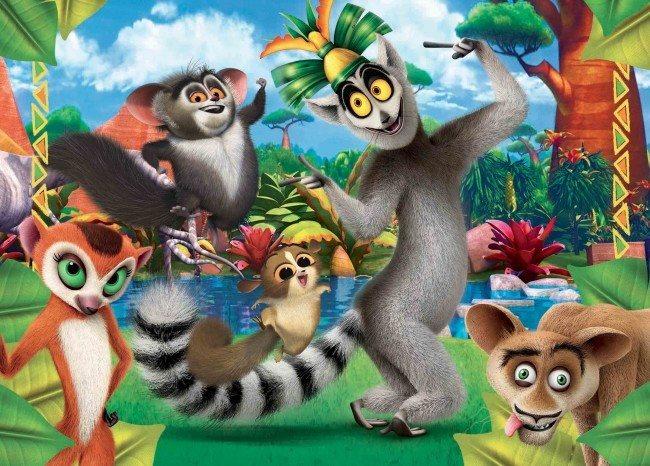 CLEMENTONI Puzzle 60 dílků - Madagaskar: Král Jelimán