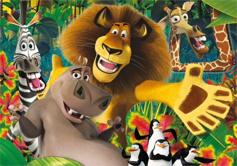 Dětské MAXI puzzle - Madagaskar: V džungli 24 dílků