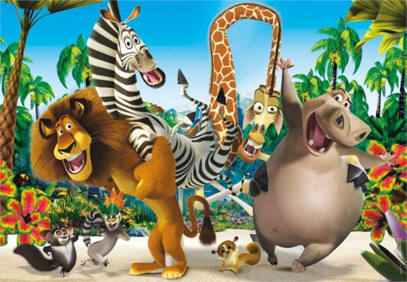 CLEMENTONI Puzzle Madagaskar: Veselá zvířátka MAXI 24 dílků