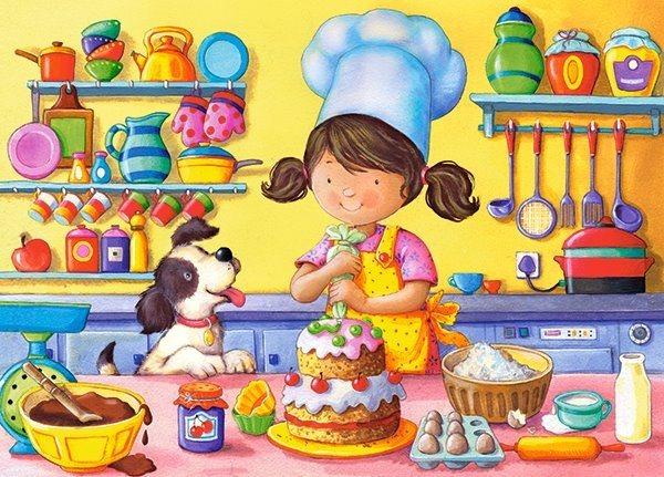 CASTORLAND Puzzle Malá kuchařka 60 dílků
