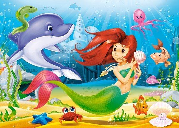 CASTORLAND Puzzle Malá mořská víla 120 dílků