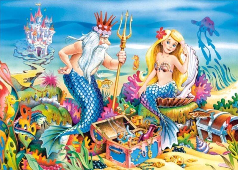 CASTORLAND Puzzle Malá mořská víla 35 dílků