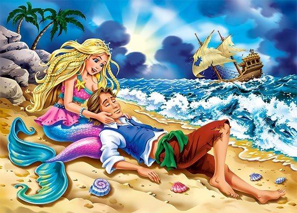 CASTORLAND Puzzle Malá mořská víla 54 dílků