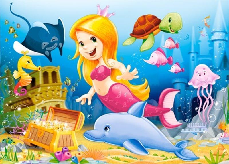 CASTORLAND Puzzle Malá mořská víla 60 dílků