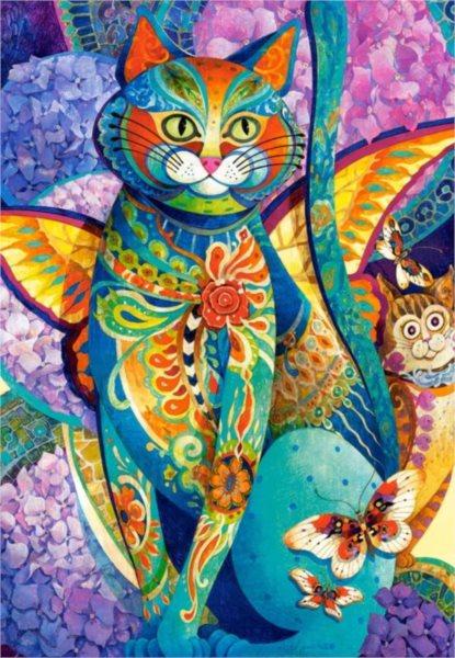 CASTORLAND Puzzle Malovaná kočka 1500 dílků
