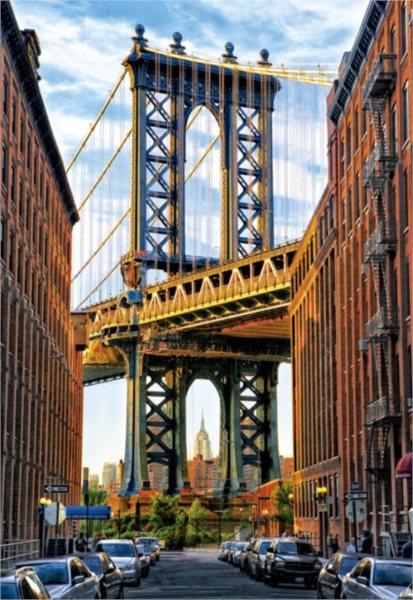 EDUCA Puzzle Manhattanský most, New York 1000 dílků
