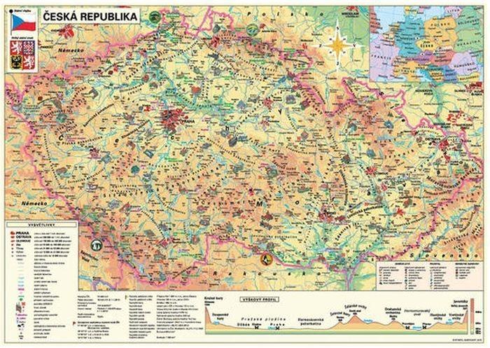 Puzzle DINO 500 dílků - Mapa České republiky