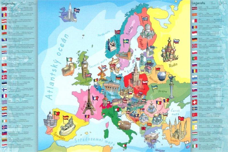 Puzzle pro děti TREFL 200 dílků - Mapa Evropy