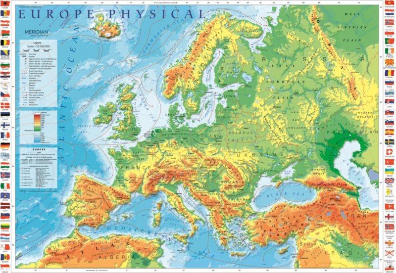 TREFL Puzzle Mapa Evropy 1000 dílků