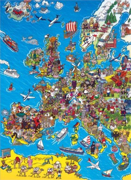 Puzzle CLEMENTONI 39384 Mapa Evropy 1000 dílků