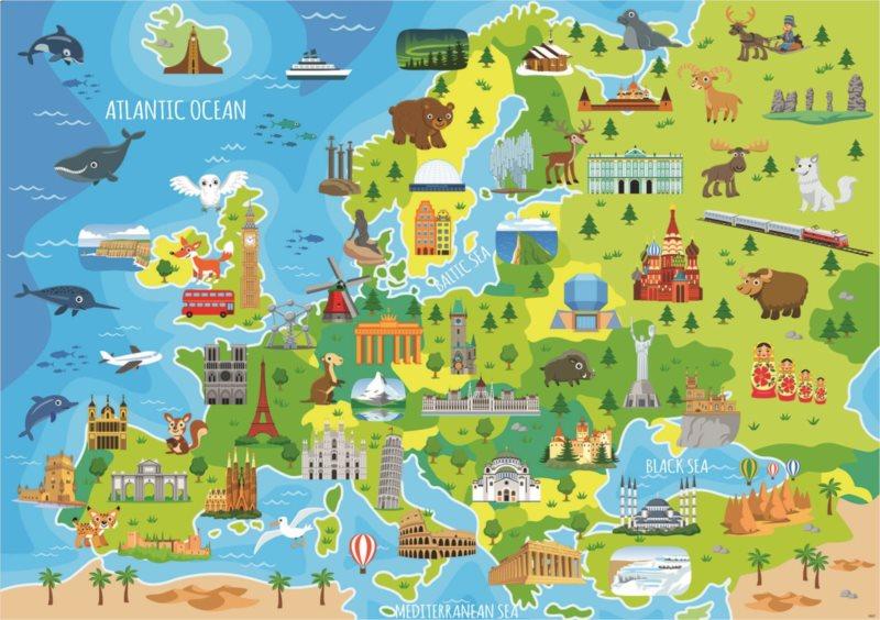 EDUCA Puzzle Mapa Evropy 150 dílků