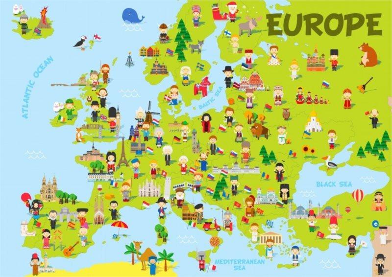 BLUEBIRD Puzzle Mapa Evropy 150 dílků