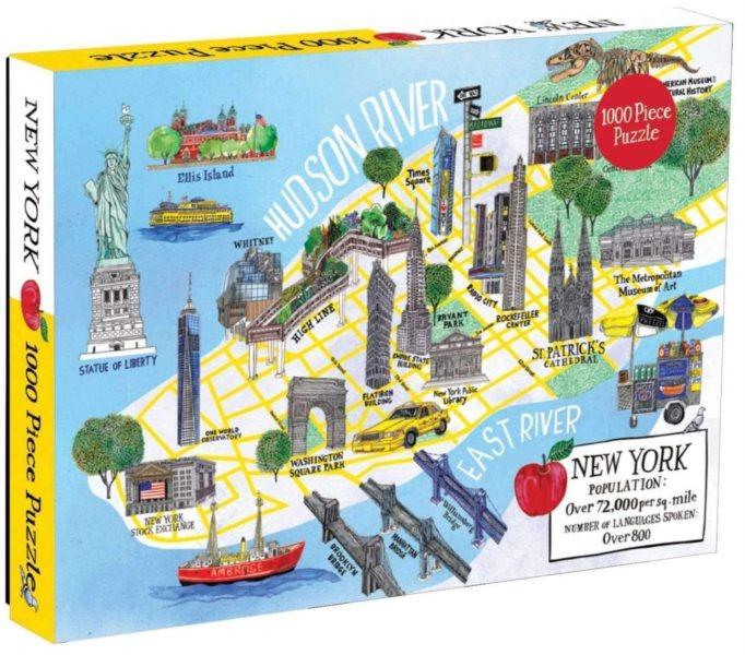 GALISON Puzzle Mapa města New York 1000 dílků