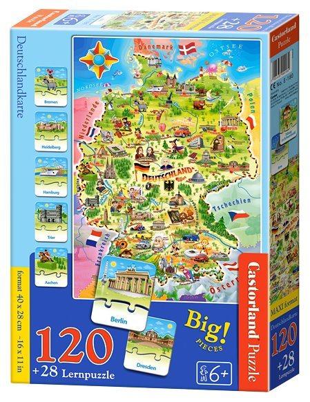 CASTORLAND Puzzle Mapa Německa 120 dílků