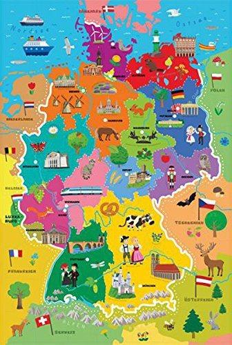 TREFL Puzzle Mapa Německa 44 dílků