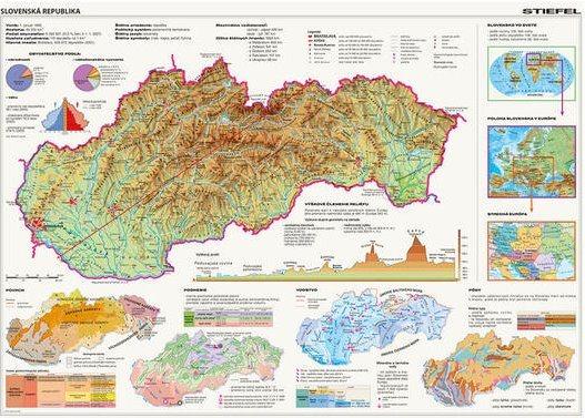 DINO Puzzle Mapa Slovenské republiky 2000 dílků
