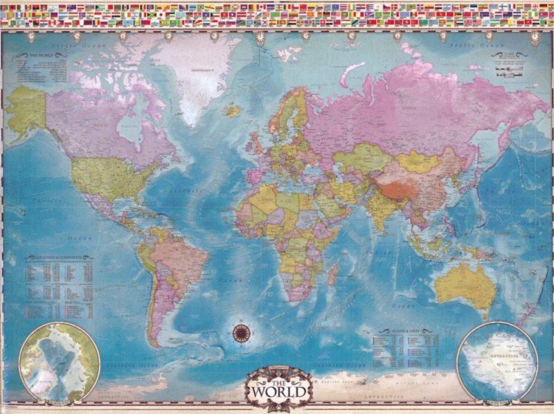 EUROGRAPHICS Puzzle Mapa světa 1000 dílků