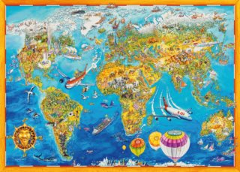 KING Puzzle Mapa světa 1000 dílků