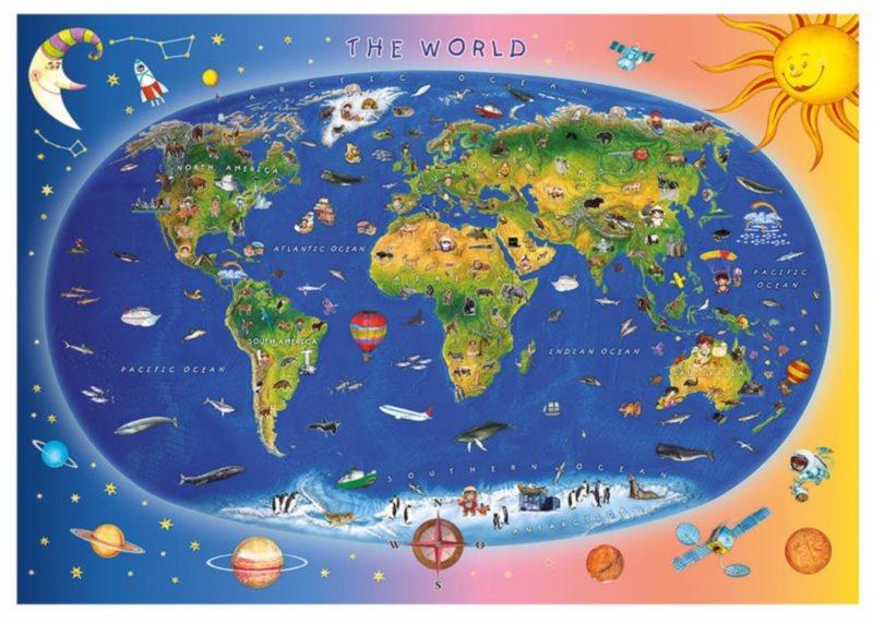 DINO Puzzle Mapa světa XL 300 dílků