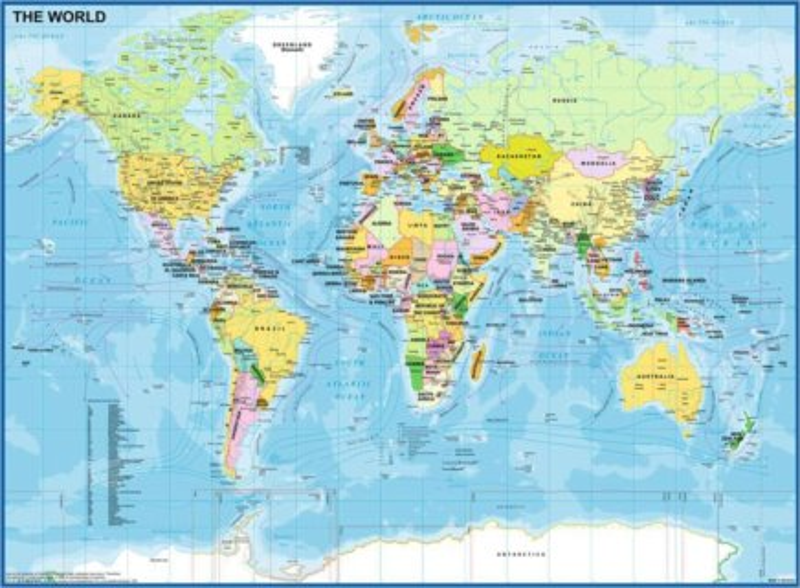 RAVENSBURGER Puzzle Mapa světa XXL 200 dílků
