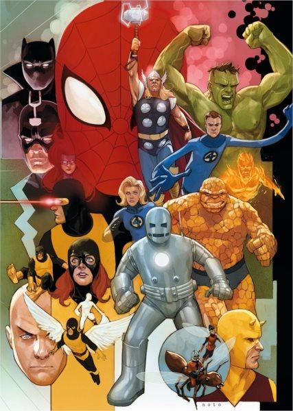 CLEMENTONI Puzzle Marvel 80, 1000 dílků