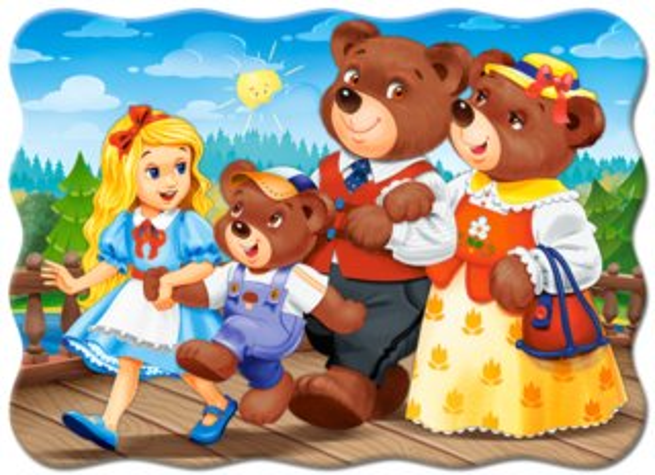 CASTORLAND Puzzle Mášenka a tři medvědi 30 dílků