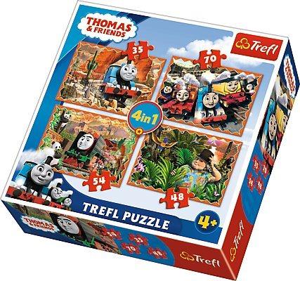 TREFL Puzzle Mašinka Tomáš 4v1 (35,48,54,70 dílků)