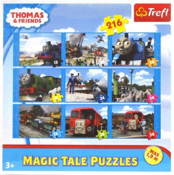 Dětské puzzle 9v1 TREFL - Mašinka Tomáš a přátelé