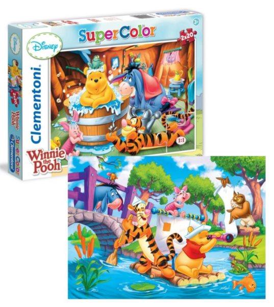 Dětské puzzle 2x20 dílků - Medvídek Pú 2v1