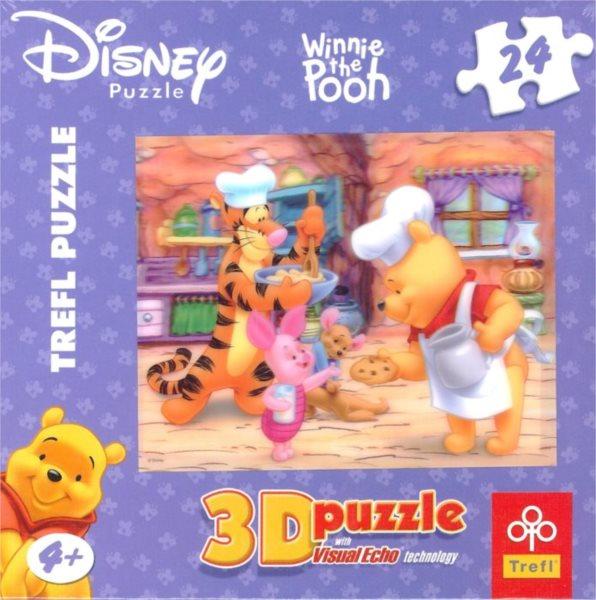 TREFL Puzzle Medvídek Pú 3D 24 dílků